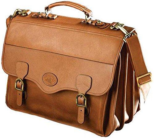 Santa Fe Vaquetta Leather Triple Gusset Flap Laptop Brief (Leather Triple Gusset Flap)