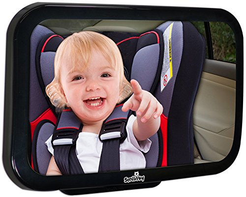HOT SALE! - Back Seat Baby Car Mirror - 35% Greater View Of Your Rear Facing Baby* - Unique Convex Angle - Extra Large Size - Premium Quality Shatterproof Car Seat Mirror - Adjustable Pivot Mount - Best Rear Facing Car Seat Mirror - You'll See More Of Your Baby More Clearly - Comes With Free eBook & 100% Lifetime Guarantee