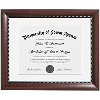 Amazon.com - 11x14 Mahogany Document Frame - Made to Display ...