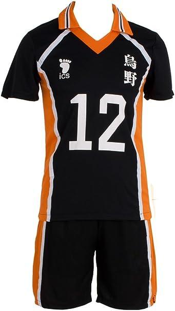 Haikyu!!Tadashi Yamaguchi cosplay costume number 12 black /& orange