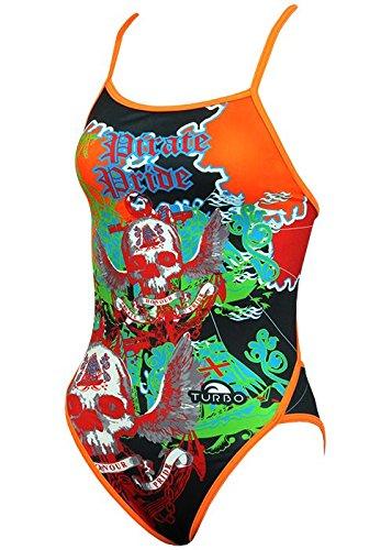 Turbo Sport Bañador Pirate Treasure para schwimmerinnen Water Polo Triathlon - Espaguetis Bañador portador bunt orange: Amazon.es: Deportes y aire libre