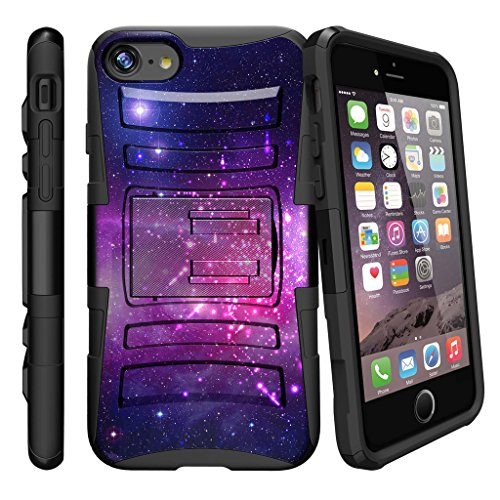 MINITURTLE Case Compatible w/ Case for iPhone 7 2017, iPhone 7 Belt Clip Case for iPhone 7 2017 w/ Holster and Locking Stand Feature [ Clip Case for iPhone 7 ] Heavenly Stars (Stars Heavenly)