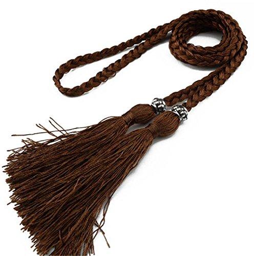 Cheryl Bull Woven Tassel Belt Ladies Belt Bow Tie Rope Dress Knot Decorated Waist Chain Waist Rope