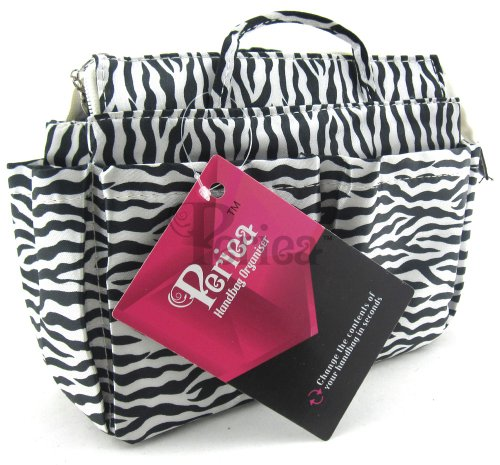 Periea Handbag Organzier - 6 Colors & Styles Available (Black with White Zebra Print) -