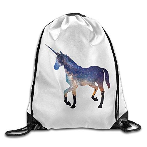 SAXON13 Unisex Playful Unicorn Drawstring Travel Bag
