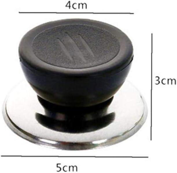 Aisoway Universal-topfdeckel Abdeckung Knob Griff Edelstahlfu/ß Rundk/üche Kochgeschirr Ersatz Pan Pot Handgriff Deckel Knob Cap