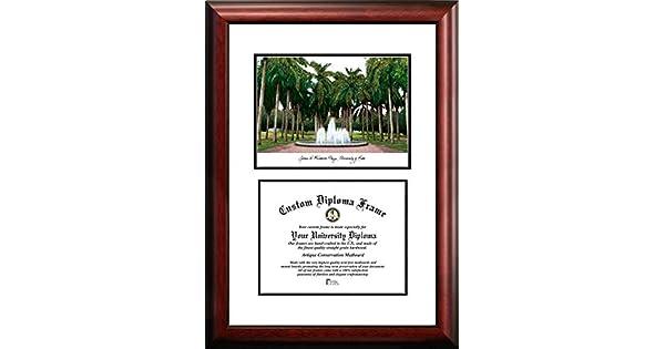 8.5 x 11 Campus Images FL988V University of Miami Scholar Diploma Frame