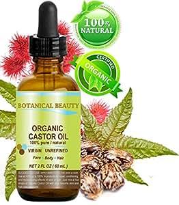 Botanical Beauty Organic Castor Oil, 2 fl oz (60 ml)