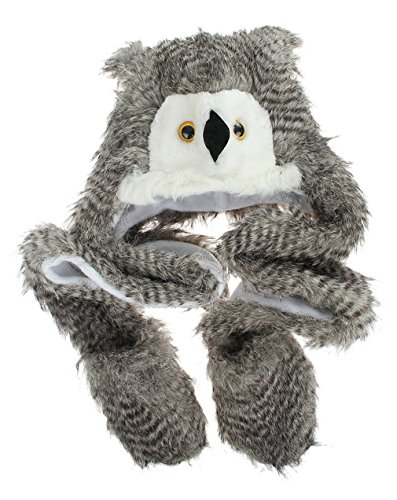 [La Vogue Plush Hat Novelty Cap Animal Costume Beanie With Long Paws Owl] (Mens Owl Costumes)