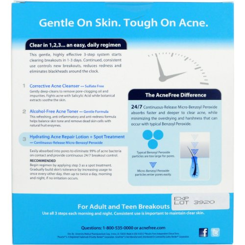 AcneFree Hour Clearing Skin Kit, 1 set