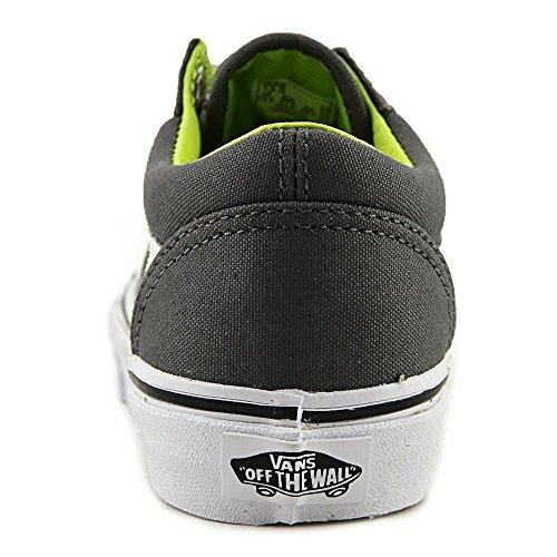 Vans Old Skool - Zapatillas Unisex niños Gris (canvas/pewter/lime Punch)