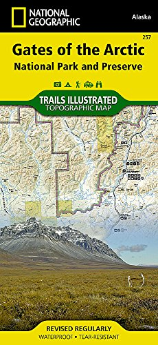 Gates of the Arctic National Park and Preserve (National Geographic Trails Illustrated Map)