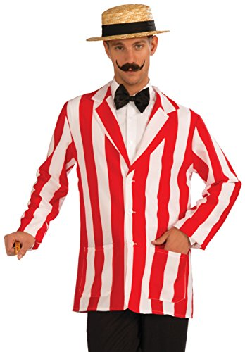 Forum Novelties Men's Roaring 20's Old Time Halloween Jacket, Red/White, Standard