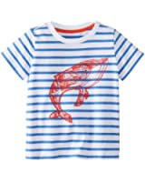 Egg by Susan Lazar Baby Boys' Jersey Short Sleeve Whale Tee