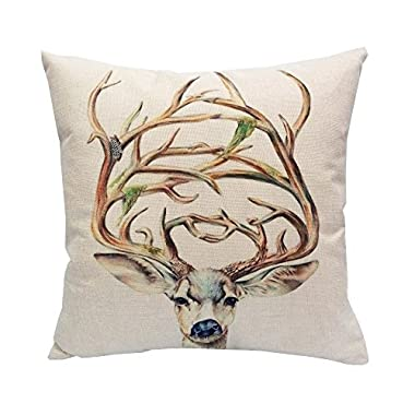 Sunlightsell Stylish Colorful Animals Square Decorative Fashion Throw Pillow Case Cushion Cover-17.3  X17.3   (A)