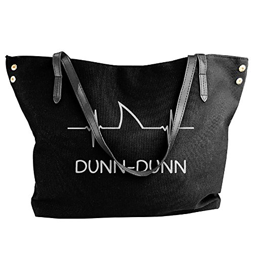 Canvas Tote Capacity Dunn Shoulder Dunn Large Large Shark Handbag Heartbeat Women's Bags Black dEnqwZOgd