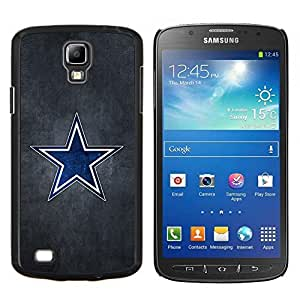 "Be-Star Único Patrón Plástico Duro Fundas Cover Cubre Hard Case Cover Para Samsung i9295 Galaxy S4 Active / i537 (NOT S4) ( Blue Star Sports Team"" )"