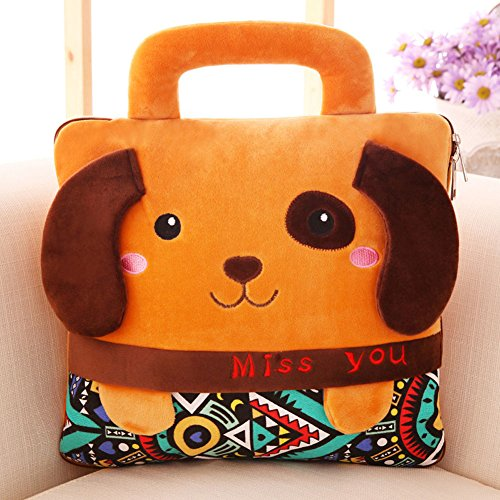 BSTcentelha 2 In 1 Cute Cartoon Plush Stuffed Animal Motifs Throw Pillow Blanket Set (Style E) by BSTcentelha (Image #1)