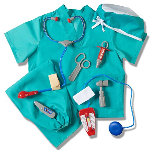 Kids Surgeon Costume (Prextex Child's Halloween Doctor Dress up Surgeon Costume Set and Accessories)
