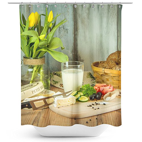 Plant Ind Food (Westlake Art - Yellow Life - Fabric Printed Shower Curtain - Picture Photography Waterproof Mildew Resistant Hook Bathroom - Machine Washable 71x74 inch (4DCB5))
