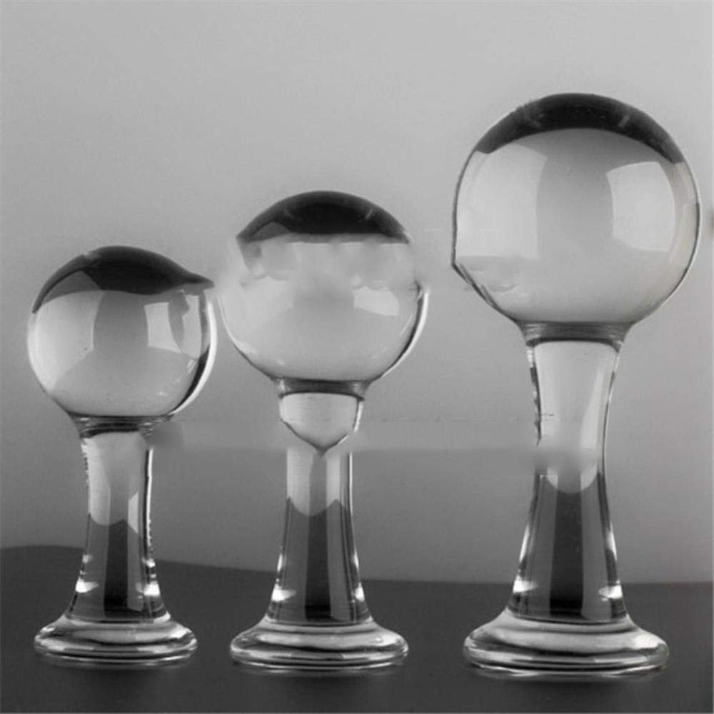 Larenca 45/50/60mm Big Crystal Glass Anal Dildo Butt Plugs Anal Beads Anal Sex Toys for Women Men Prostate Massage Couples Sex Products,SML