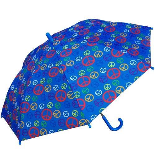 - RainStoppers Kid's Peace Sign Print Umbrella, 34-Inch