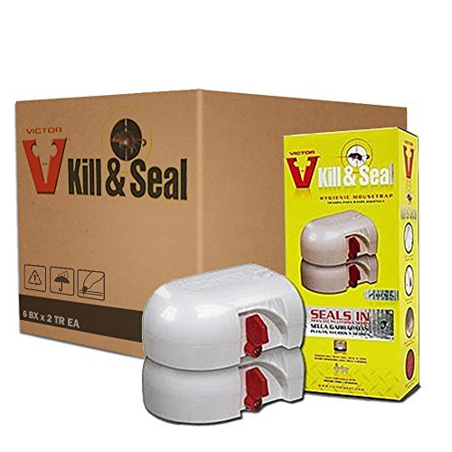 Victor Kill and Seal Mousetrap M265-6 packs-(12 Traps total) ()