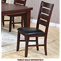 Coaster 101882 Imperial Ladder Back Side Chairs In Rustic Oak Set Of 2
