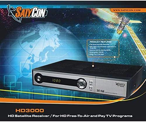 SATYCON Receptor SATELITE HD3000 + Antena 60CM: Amazon.es ...
