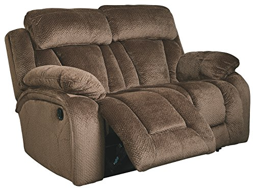 Ashley Furniture Signature Design – Stricklin Reclining Loveseat – Contemporary Upholstered Recliner – Chocolate