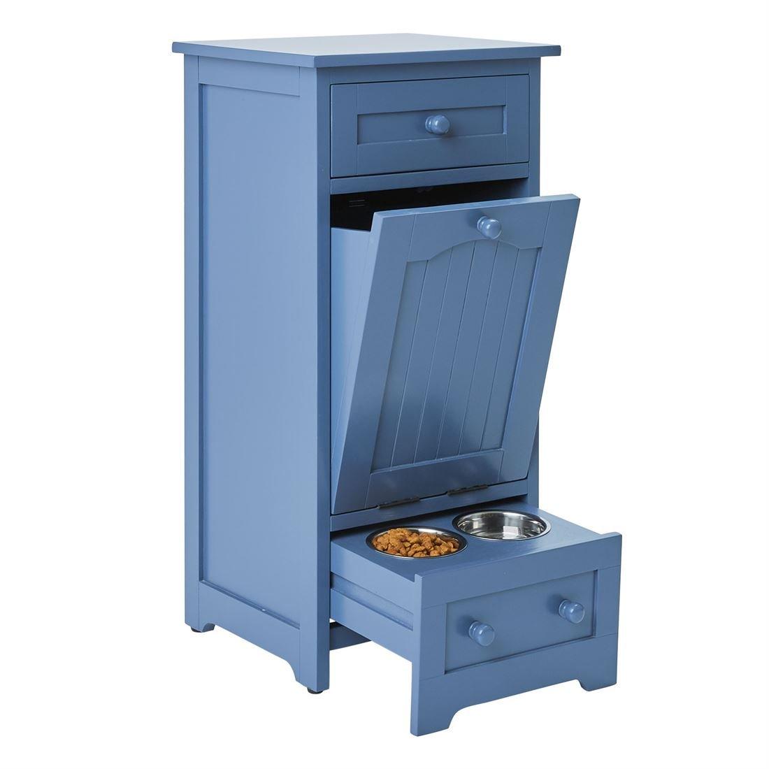 Pet Supplies : BrylaneHome Pet Food Storage Cabinet (Blue, 0 ...