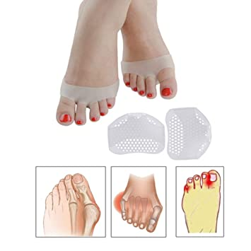 2c2de1314b Ofanyia Breathable Silicone Gel Forefoot Pads For Mortons Neuroma & Ball Pain  Relief, Arch Support