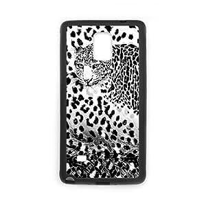 Samsung galaxy note 4 N9100 Leopard Phone Back Case DIY Art Print Design Hard Shell Protection FG028676