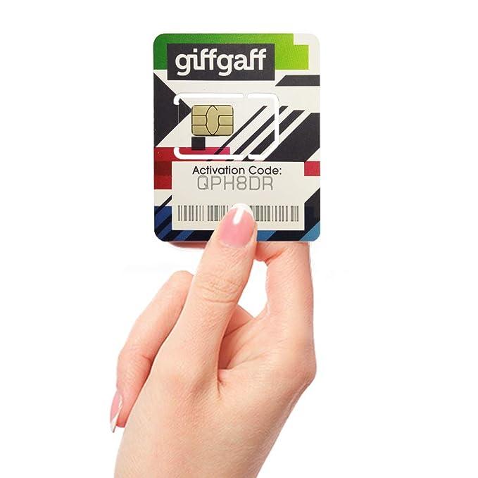 Giffgaff, Tarjeta SIM de 20 GB de Datos y 4 G/LTE (conexión ...
