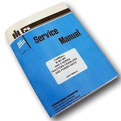 Full Farmall M Mv Tractor Service Manual Shop Repair International Mccormick Ih ()