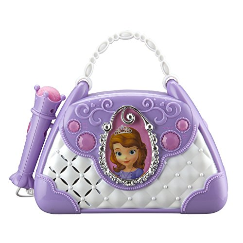 Disney Sofia The First Junior Time To Shine Sing Along Boombox With Microphone Connect Your Mp3 Player   Sing To Your Music Or Sofias Built In Tunes