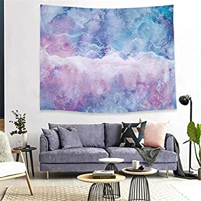 charmsamx Blue Pink Marble Tapestry Stone Textured Authentic Tapestry Starry Sky Nature Elegance Wall Hanging Art Abstract Painting Artwork Handicrafts for Living Room Bedroom Dorm, 78 W x 59 H