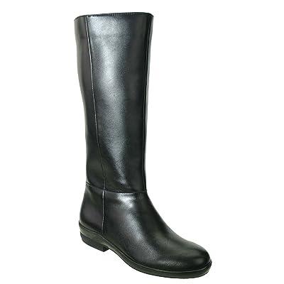 David Tate Women's Madison 18 Wide Calf Boot, Black Soft Calf, US 4.5 M   Boots