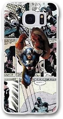 Brad Kkmu Marvel Comic X7V1NP3P Caso Funda Samsung Galaxy S7 Edge Caja Blanco: Amazon.es: Electrónica