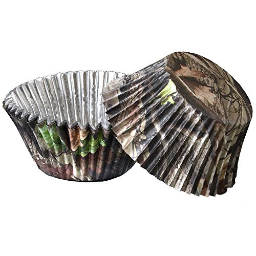 Camo Cupcake Liners (36 Pack, Foil Backed, High Definition) Hunting Camo Party Collection by Havercamp ()