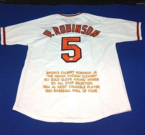 Autographed Brooks Robinson Jersey - # W695871 - JSA Certified - Autographed MLB Jerseys