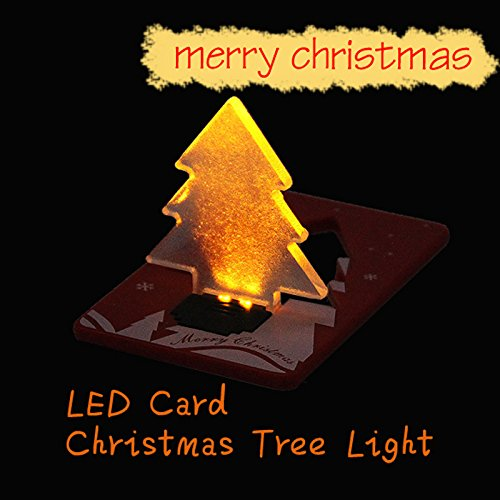 Folding Led Pocket Christmas Tree Card Light Lamp in US - 2