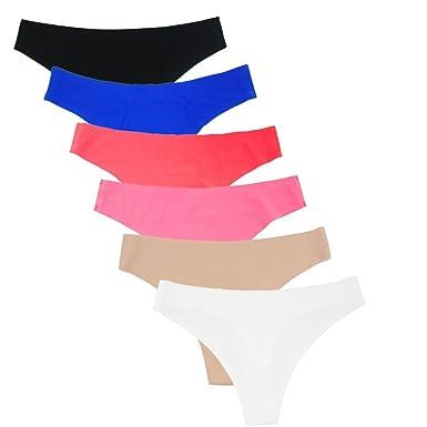 42647132a5ae Rokery Tangas para Mujer Cintura Baja Braga Alta sin Costuras Microfibra  Tangas Sexi Mujer Senoras Ropa Interior Pack de 6
