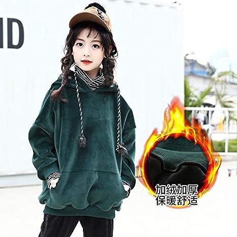 MV Autumn Hooded Double-Faced Velvet Velvet Thick Sweater Fake Two-Piece Striped