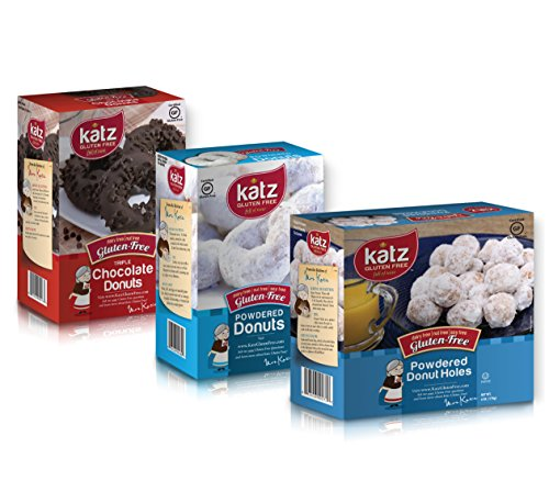 (Katz Gluten Free Donut & Donut Holes Variety Pack | 1 Powdered Donuts, 1 Triple Chocolate, 1 Powdered Donut Holes | Dairy, Nut, Soy and Gluten Free | Kosher (1 Pack of each))
