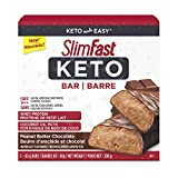 SlimFast Keto Bar with Whey Protein and Coconut Oil Mcts - Box of 5x40g Bars, Peanut Butter Chocolate, 200 Grams