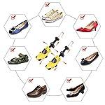 Halcent 1 Paire Embauchoirs Plastique avec Métal Arbre de Chaussure avec Chausse-Pied Embauchoir Homme Femme 11