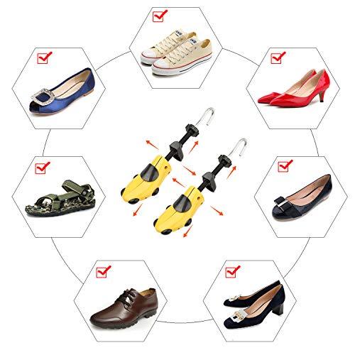 Halcent 1 Paire Embauchoirs Plastique avec Métal Arbre de Chaussure avec Chausse-Pied Embauchoir Homme Femme 5