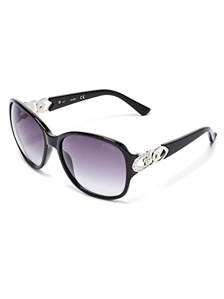 GUESS Factory Womens Oversized Chain-Trim Sunglasses