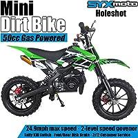 $286 » SYX MOTO Kids Mini Dirt Bike Gas Power 2-Stroke 50cc Motorcycle Holeshot Off Road Motorcycle…